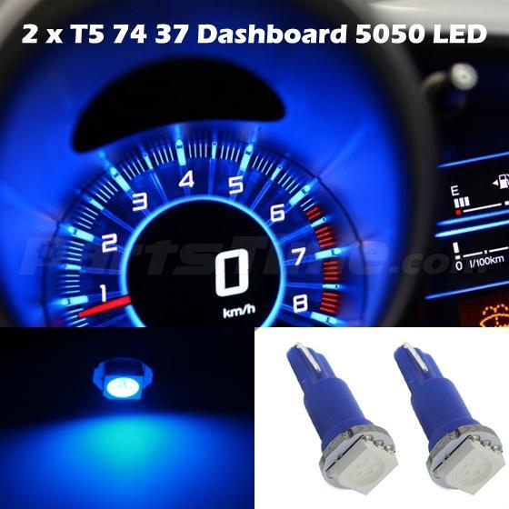 60x T5 74 Led Dashboard Speedometer Gauge Indicator Light
