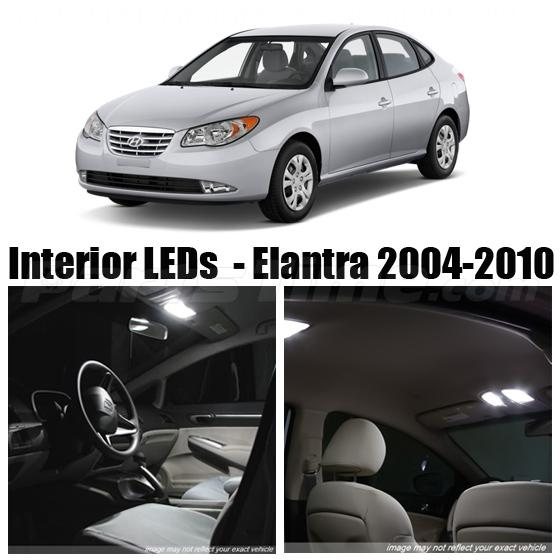 Hyundai Elantra Extended Warranty: A Set Bright White LED Interior Lights Package For 2004