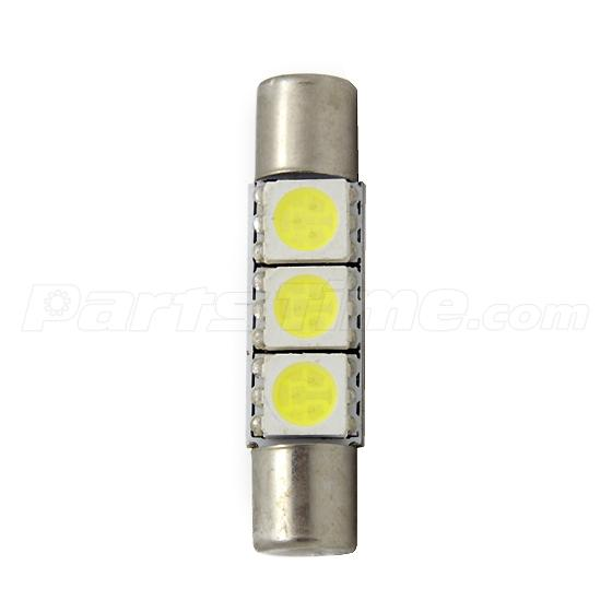 2x xenon white 3 5050 smd led bulbs for car vanity mirror lights sun visor lamps ebay. Black Bedroom Furniture Sets. Home Design Ideas
