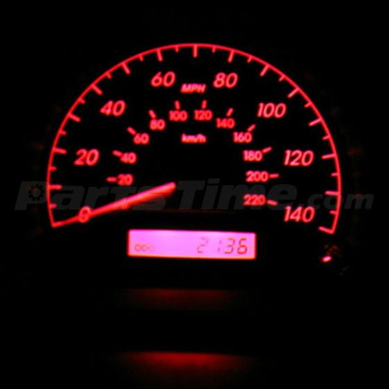 60x T5 74 Led Dashboard Speedometer Gauge Indicator Light: 10x Red Led Bulbs T5 70 73 74 For Mitsub Instrument