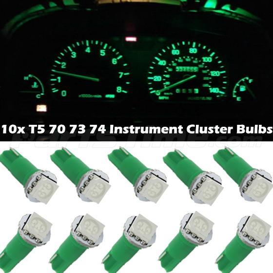60x T5 74 Led Dashboard Speedometer Gauge Indicator Light: 10x For Nissan T5 17 37 73 74 79 Wedge Instrument Dash LED