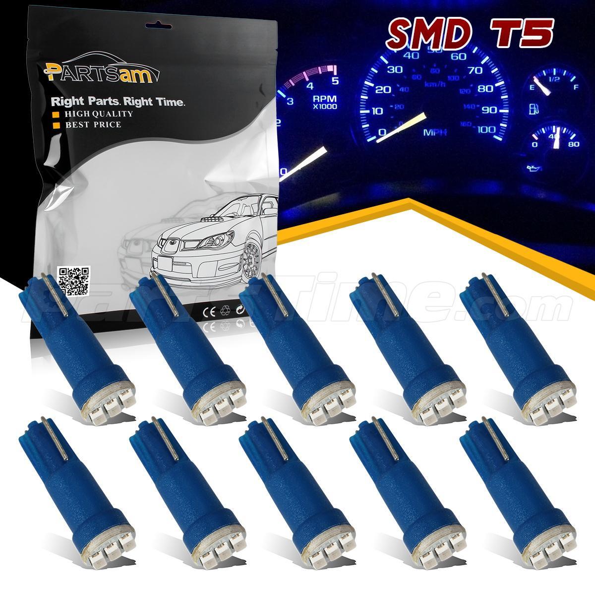 10x t5 3 smd blue instrument panel cluster dash led bulb light lamp 74 70 37 17 ebay. Black Bedroom Furniture Sets. Home Design Ideas