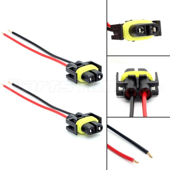 h female plug wiring harness sockets wire for headlights 880 881 h11 female plug wiring harness sockets wire for headlights or fog lights