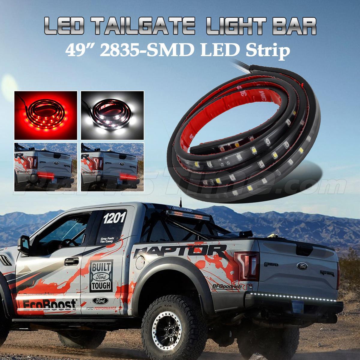 tailgate strip brake reverse tail light led bar for chevrolet trucks. Black Bedroom Furniture Sets. Home Design Ideas