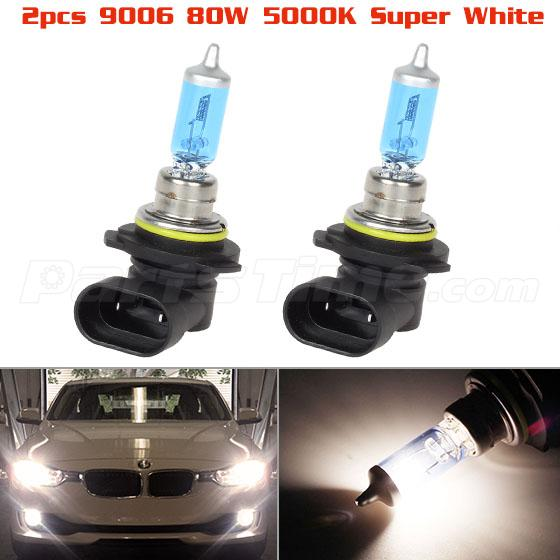 Qty 2 4500k White 80w 9006 Halogen Headlight Low Beam Bulbs Ebay