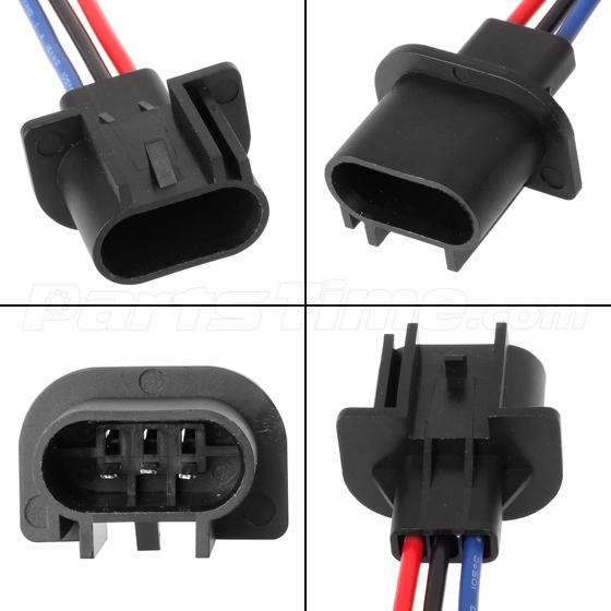 2x 9008 h13 male pre wired adapter connector plug socket how to wire a light bar on a jeep