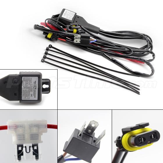 Wiring Diagrams For Silvia Headlight Conversion : W h hid kit high low beam headlight xenon relay