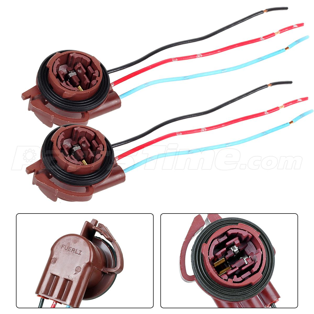 3157 socket lighting lamps 2pc 3157 3057 female socket brake turn light wire harness connector for chevy