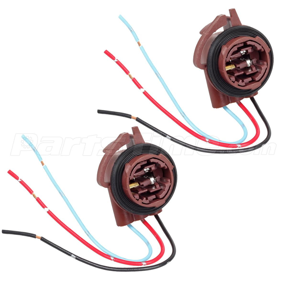 2pc 3157 3057 female socket brake turn light wire harness 2pcs 3157 4157 3057 female socket brake turn signal light wire harness connector