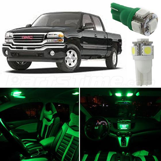 14x Ultra Green 12v Car Interior Led Package Bulbs Kit For 1999 2006 Gmc Sierra Ebay