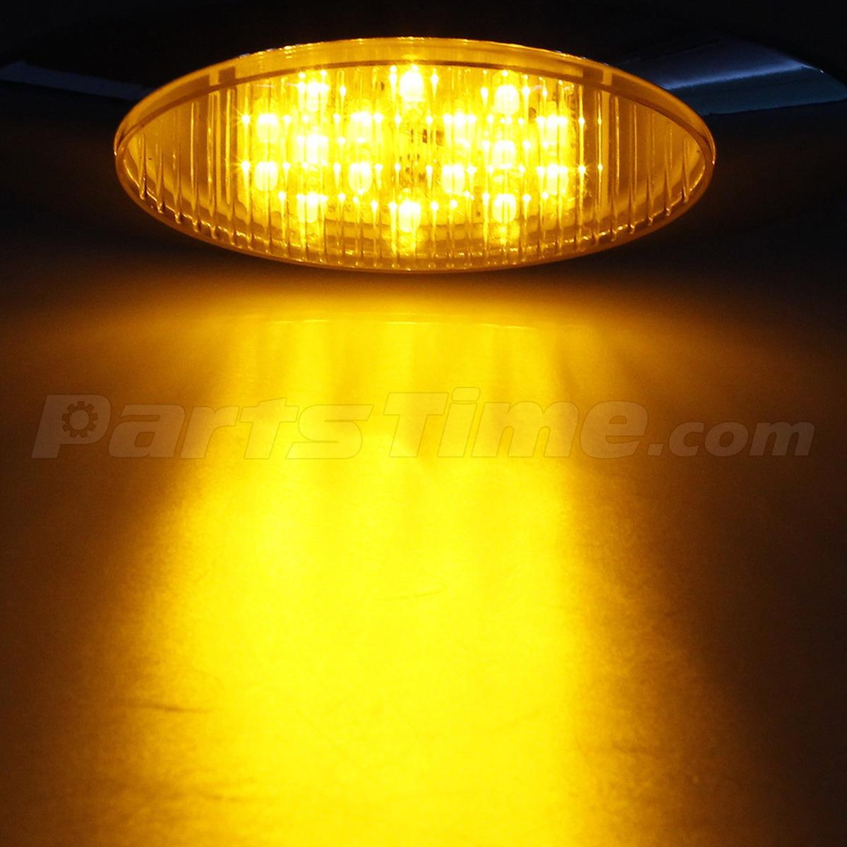 4x Amber 16 Diode Led Marker Light Bullet Plug Peterbilt