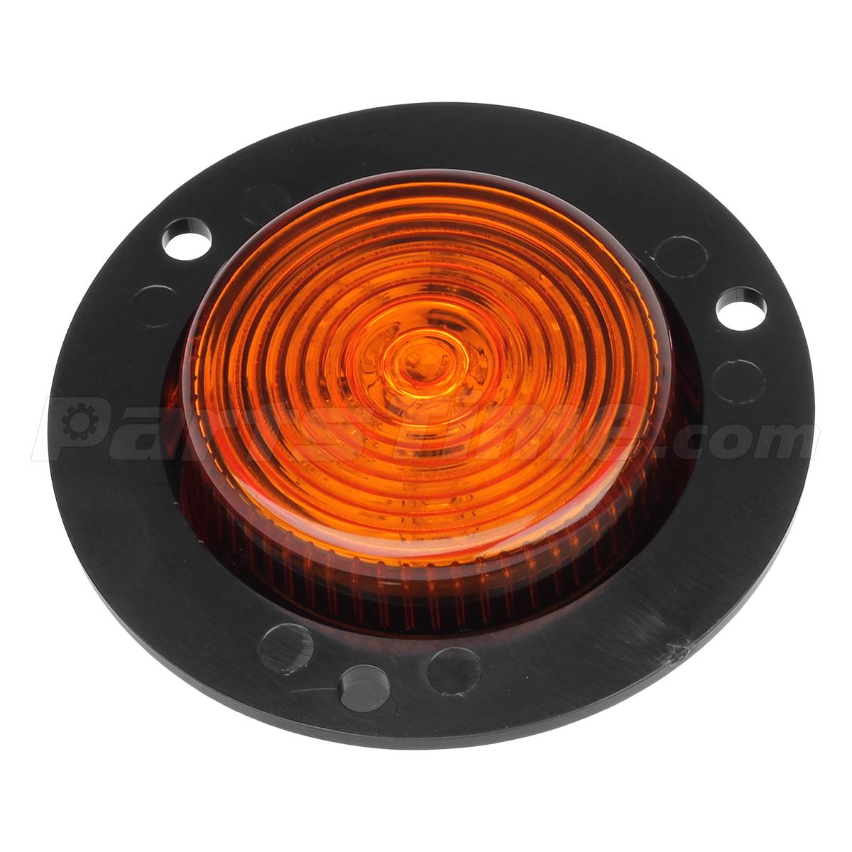 4 2 U0026quot  Amber Lens Round Sealed Clearance Marker Light 6led