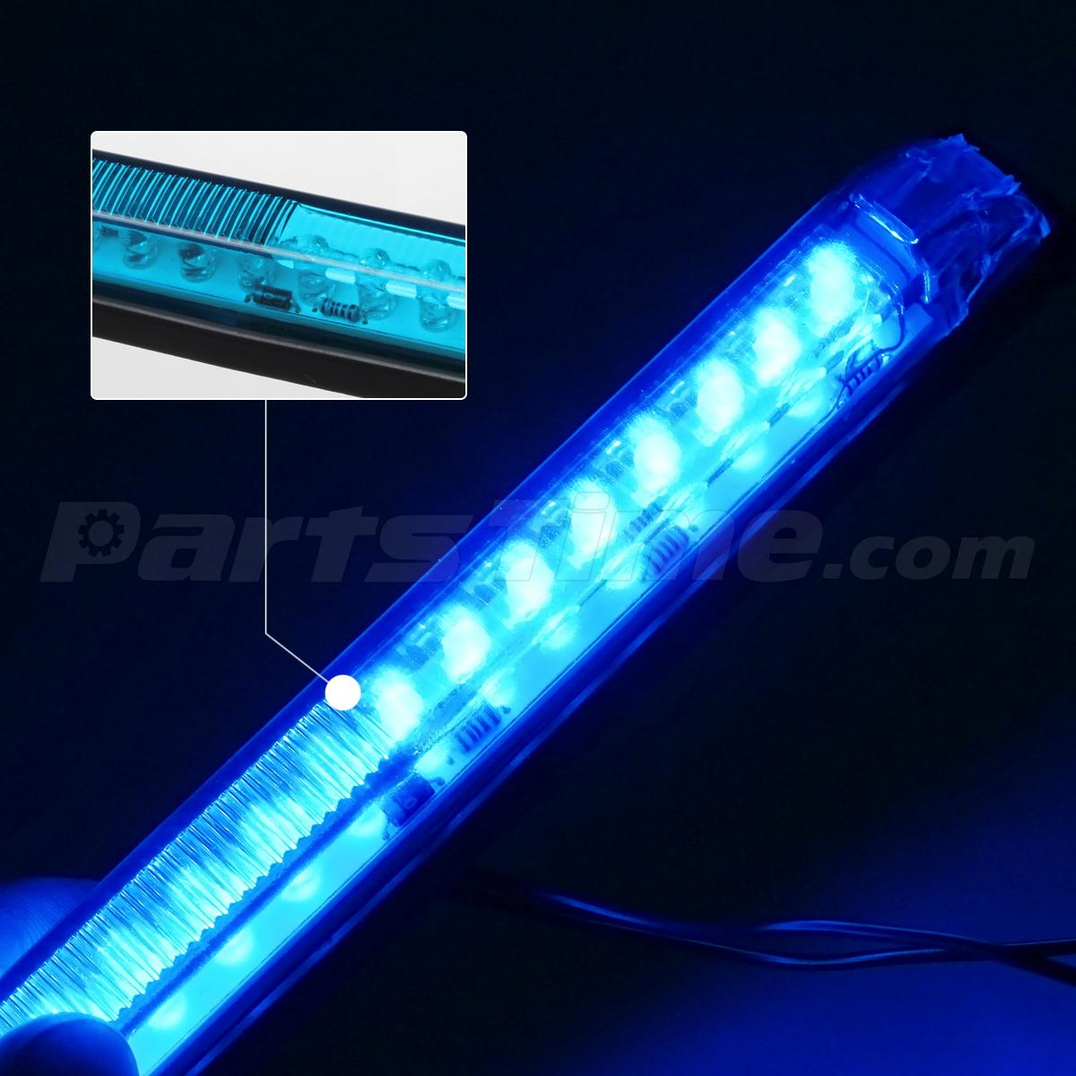 4x 8 Blue Led Boat Lights Underwater 18 Diode Utility Strip Interior Exterior Ebay